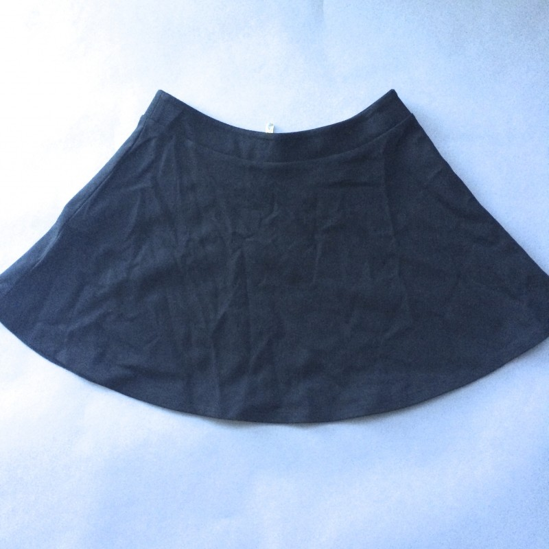 Black Cotton Skirt by NEO