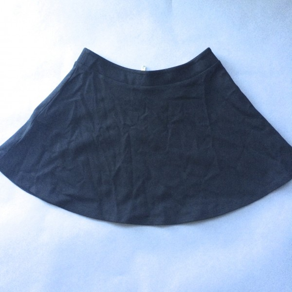 Black Cotton Skirt by NEO image