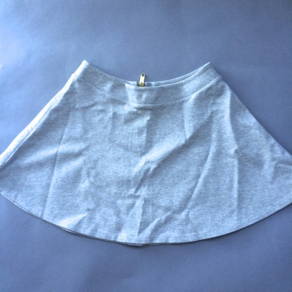 Grey Cotton Skirt by NEO