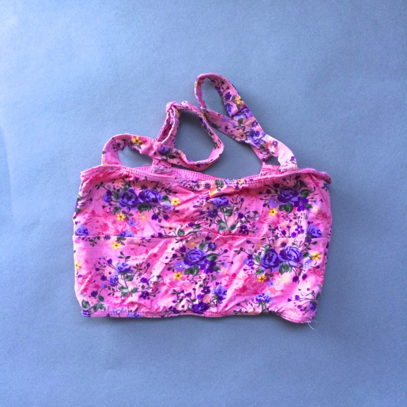 Floral Crop Top/Bandeau by Dream Out Loud (Small)