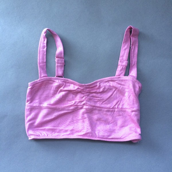 Pink, Shimmery Crop Top/Bandeau by Dream Out Loud (Small) image