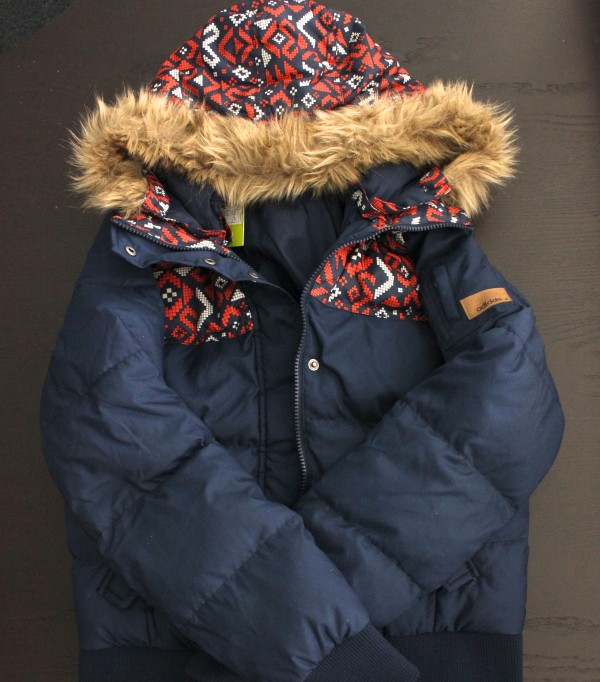 Neo Blue Aztec Puffy Jacket