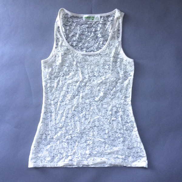 Cream, Lace Tank Top by Dream Out Loud (Small) image