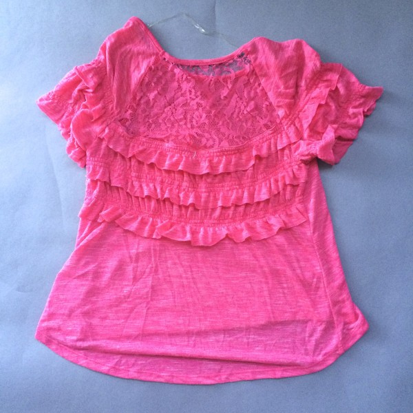 Pink Shirt w/ Ruffles and Lace
