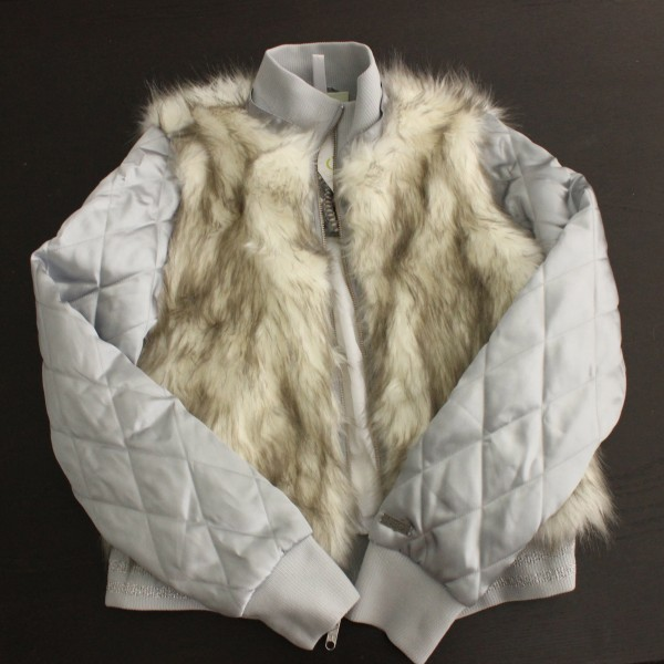 Neo Grey Fur Vest Jacket