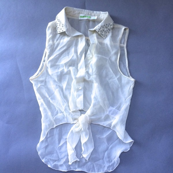 Cream Tank Top by Dream Out Loud (Small) image