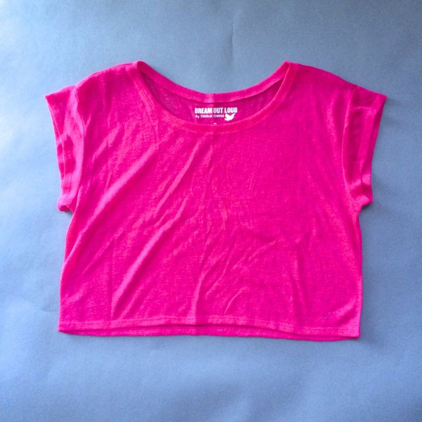 Hot Pink Crop Top by Dream Out Loud (Small) image