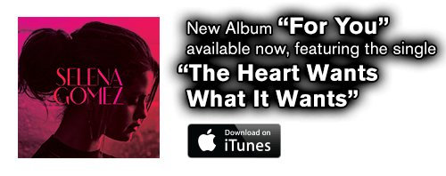 "Pre-order ""For You"" and get the new single ""The Heart Wants What It Wants"" instantly. Album available 11/24."