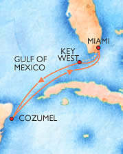 Map of the cruise