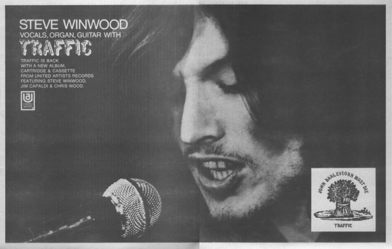 John Barleycorn Press Release: Steve Winwood, July 1970