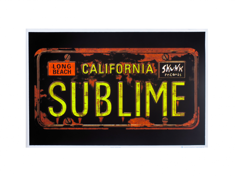 License Plate Blacklight Poster