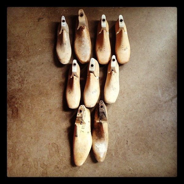 Nine days until RED . Nine vintage shoe forms.