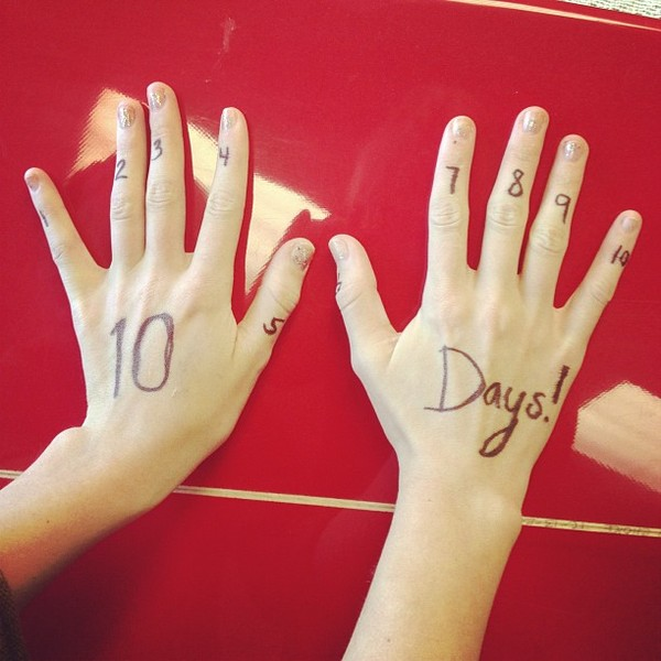So I'm going to be counting down now because its 10 DAYS until RED!!!!