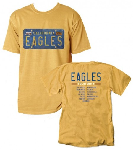 Eagles 2014 Tour License Plate T-Shirt