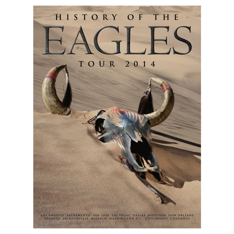 History of the Eagles Tour 2014 Lithograph