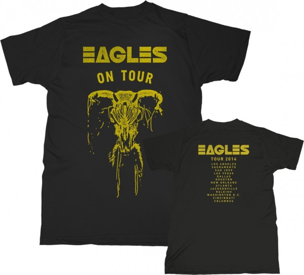 2014 Eagles on Tour Skull T-Shirt image