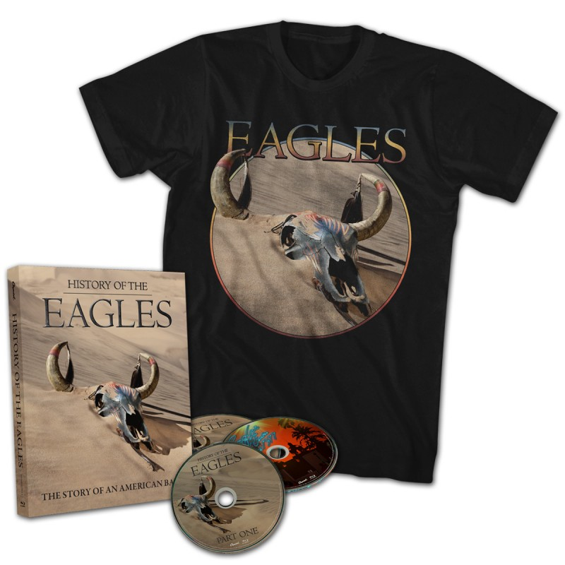 History Of The Eagles 3 Disc Blu-Ray Set T-Shirt Combo