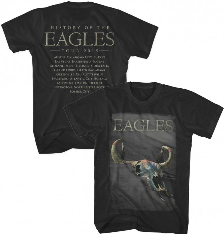 2015 History of the Eagles Tour T-Shirt - Black