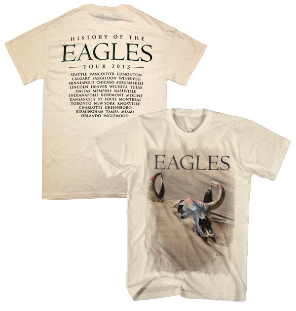 """History of the Eagles""  Tour 2013 T-Shirt (Back Tour Dates Option 1)"