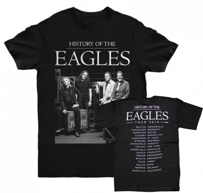 Eagles 2013 Tour Backstage Photo T-Shirt