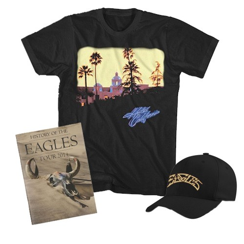 Hotel California T-Shirt + Greatest Hits Hat + Tour Program