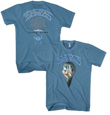 Eagles Greatest Hits 2014 Tour T-Shirt - Blue image