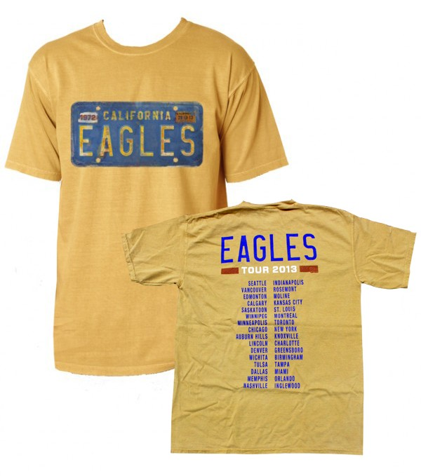 Eagles 2013 Tour License Plate T-Shirt