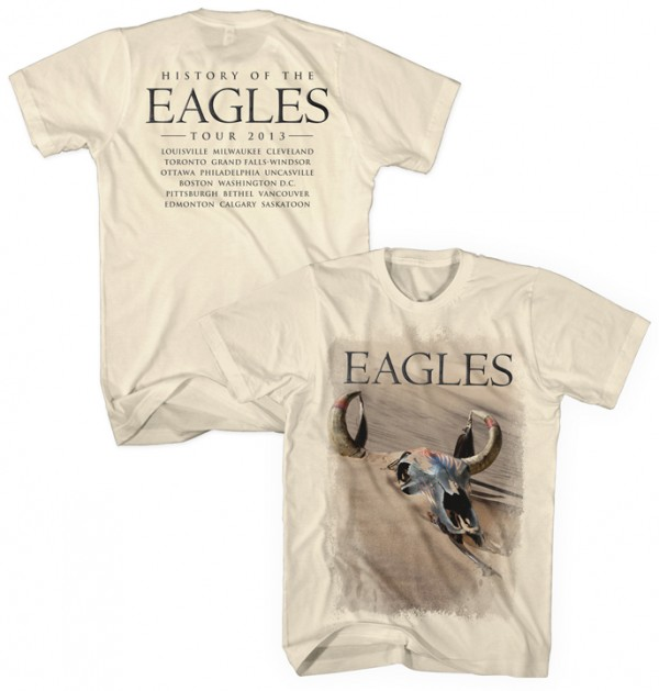 History of the Eagles Tour 2013 T-Shirt (Back Tour Dates Option 2)