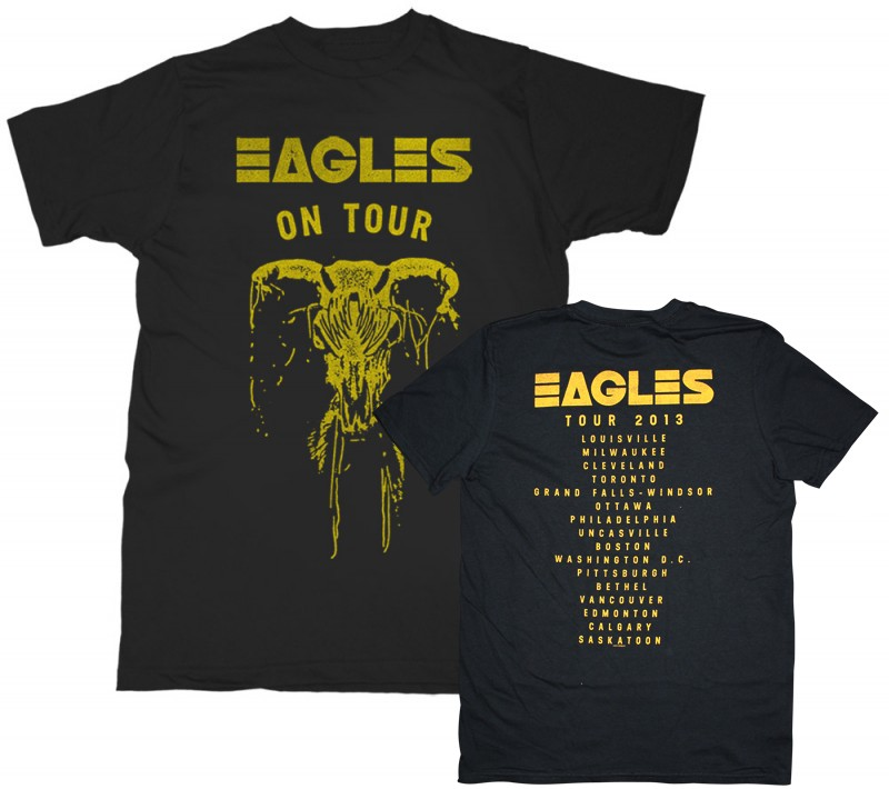 Eagles On Tour Skull T-Shirt (Back Tour Dates Option 1)
