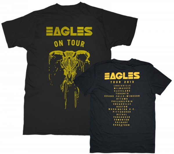 Eagles On Tour Skull T-Shirt (Back Tour Dates Option 1) image