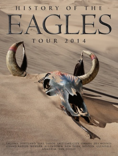 History of the Eagles Summer Tour 2014 Lithograph