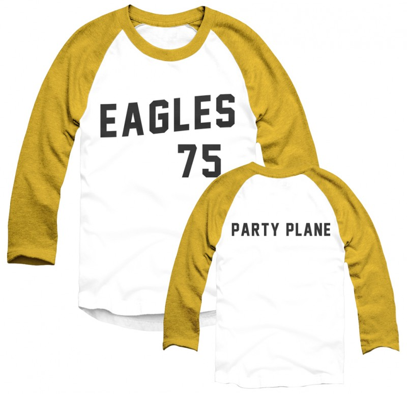 "Two Tone Eagles '75 ""Party Plane"" Baseball T-Shirt"