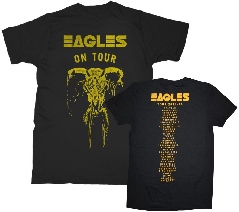 Eagles On Tour Skull T-Shirt (Back Tour Dates Option 2)