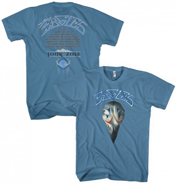 Eagles Greatest Hits 2015 Tour T-Shirt - Blue