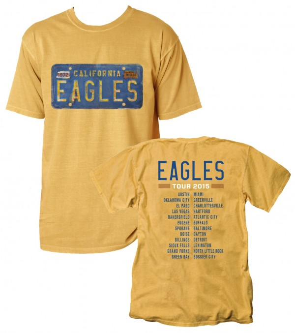 2015 Eagles Tour License Plate T-Shirt